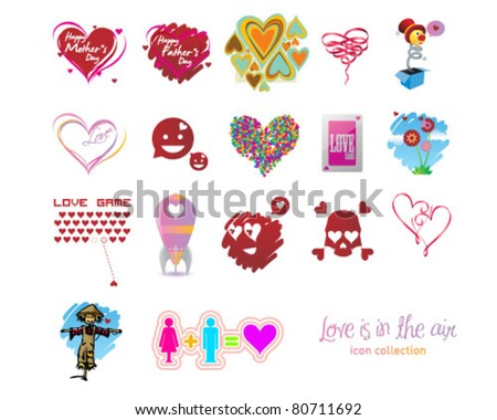 love is in the air - stock vector