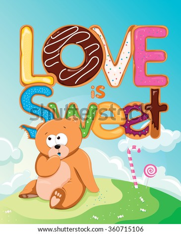 Love is Sweet  - stock vector