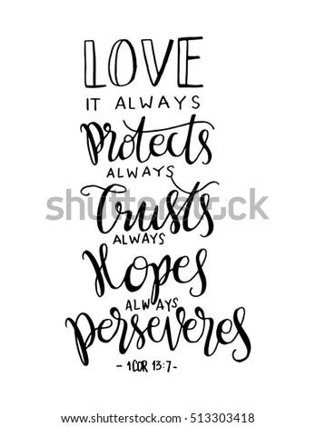 love always protect always trust always stock vector royalty free