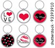 Love Keychains - stock vector
