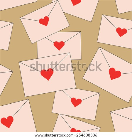 Love letters - stock vector