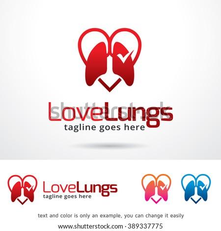 love lungs logo template design vector stock vector 389337775, Powerpoint templates