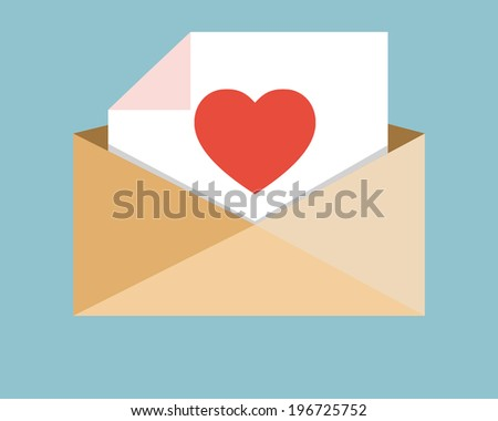 love mail for someone  - stock vector