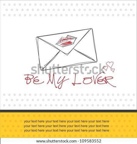 Love massage - stock vector