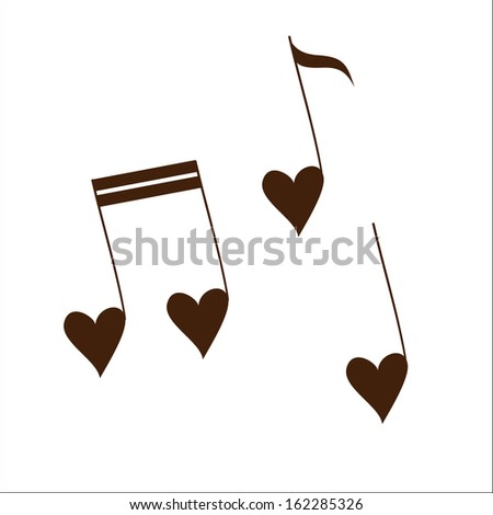 Love melody isolated on white. Sketch illustration - stock vector