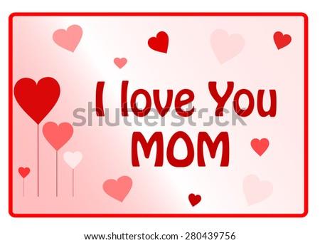 Love mum , background - stock vector