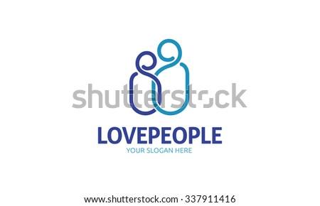 Love People Logo - stock vector