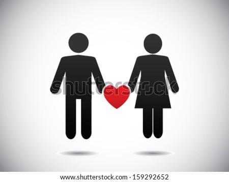 Love Relationship - stock vector