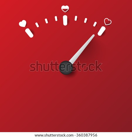 love scale concept - stock vector