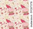 love seamless pattern - stock vector