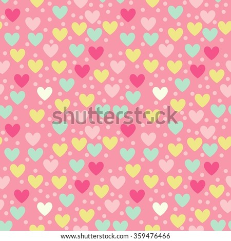 Love Seamless pattern vector template - stock vector