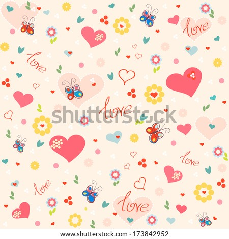 love seamless patterns, vector