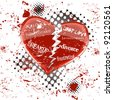 love sickness and heartbreak concept, vector illustration - stock photo