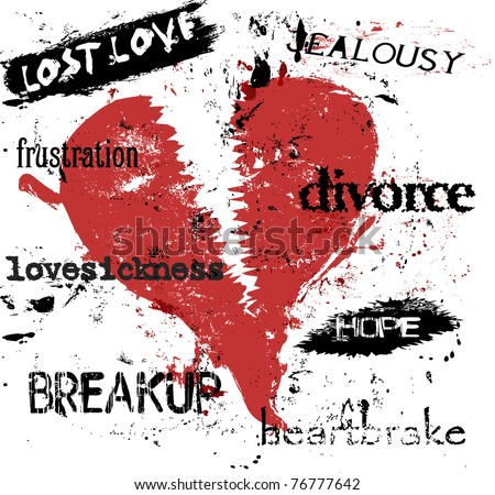 love sickness concept, vector illustration - stock vector