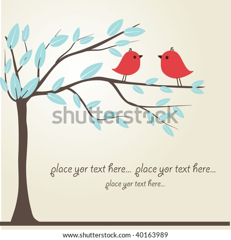 Love song. Vector illustration - stock vector