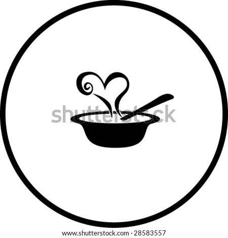love soup symbol - stock vector