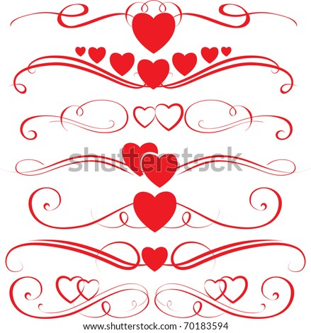 Love Swirls - stock vector
