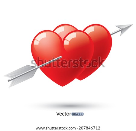 Love symbol - stock vector