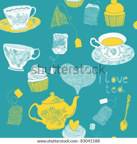 love tea - stock vector