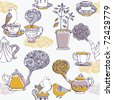 love tea. seamless pattern - stock vector