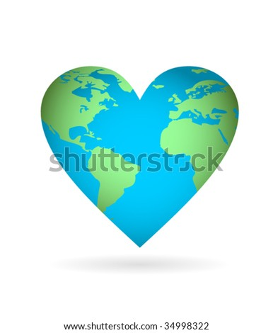 Love the earth vector - stock vector