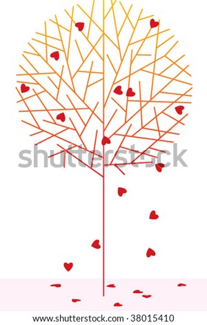 love tree - stock vector