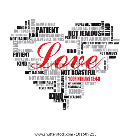 Love Typography Word Art Vector Il Ration Love Word Cloud