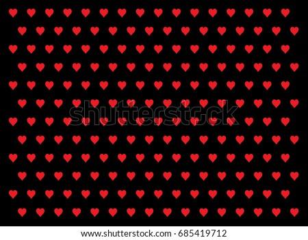 Love Wallpaper Pattern Vector Set 1