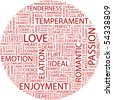 LOVE. Word collage on white background. Vector illustration. - stock vector