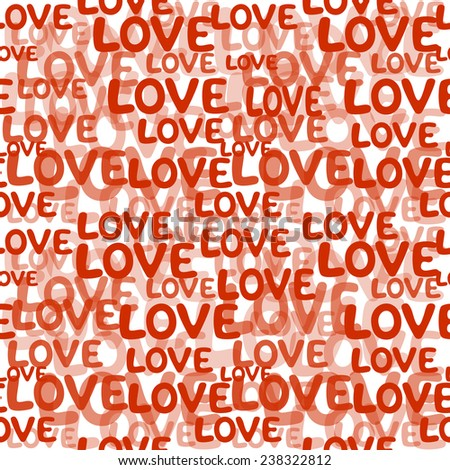 Love word seamless pattern - stock vector