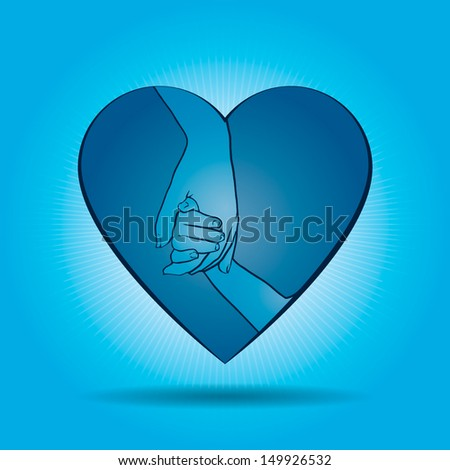 Love your child - stock vector