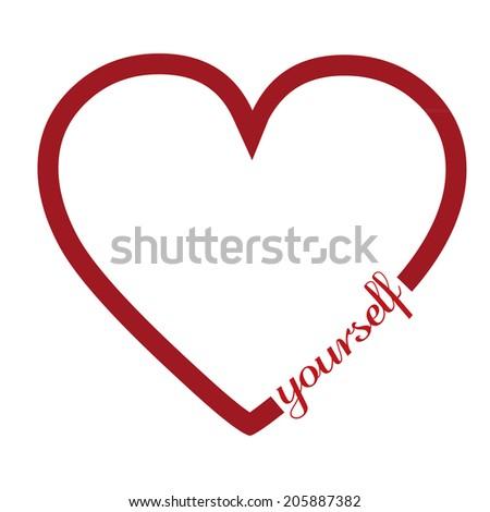 Love yourself - stock vector