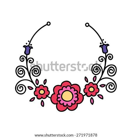 Lovely Romantic Illustrations Laurel Wreath Template Stock Vector ...