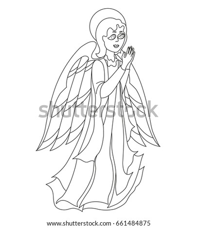 Lovely Angel Coloring Book Stock Vector (2018) 661484875 - Shutterstock