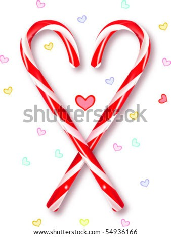 lovely candy cane - stock vector