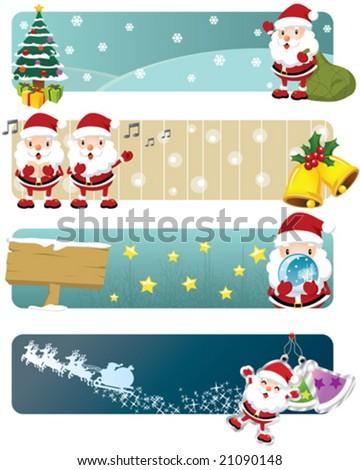 Lovely Christmas Banners - stock vector