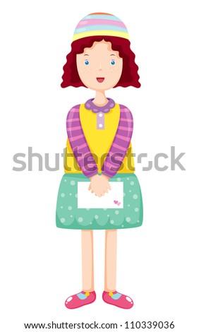 Lovely girl Vector Illustration - stock vector