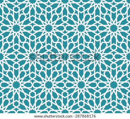 Lovely modern line vector traditional arabic pattern background design. Ideal for wall decoration, printables and wrapping paper design - stock vector