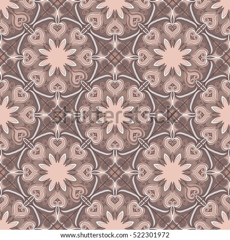 Lovely modern  vector traditional arabic pattern background design. Ideal for wall decoration,  wrapping paper design
