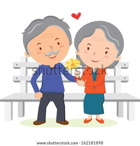 lovely old couple vector illustration stock vector grandfather clipart free line drawing grandmother clip art free