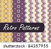 Lovely Retro Patterns - stock photo