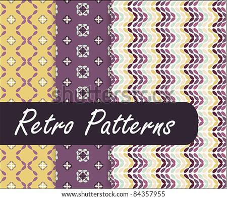 Lovely Retro Patterns - stock vector