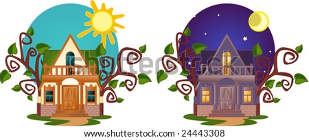 Lovely small house. - stock vector