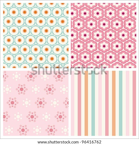 Lovely Stylish  Patterns - stock vector