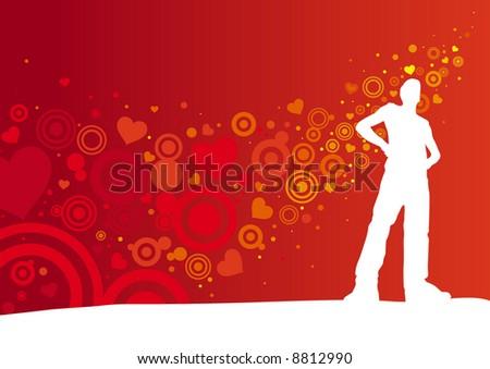 Lover 2 - stock vector