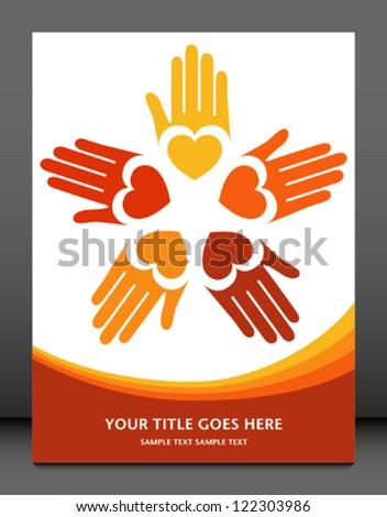 Loving hands design. - stock vector