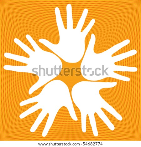 Loving hands design. - stock vector