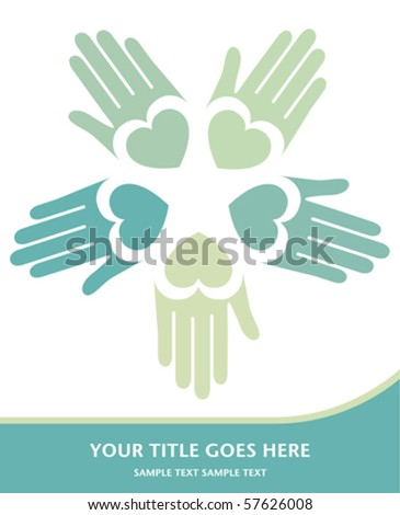 Loving hands vector. - stock vector