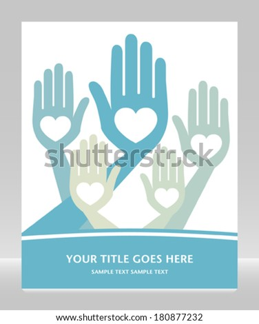 Loving hands with copy space.  - stock vector