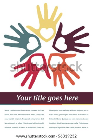 Loving hands with copy space vector. - stock vector